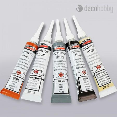 Konturozo festek normal-metal-csillogo - Decohobby