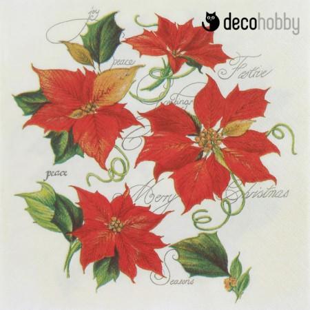 Viragos szalveta - Christmas Stars - Decohobby