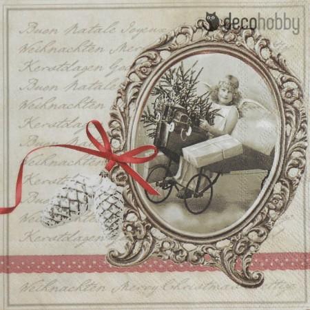 Karacsonyi szalveta - Christmas Letter - Decohobby