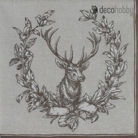 Karacsonyi szalveta - Country Deer - Decohobby