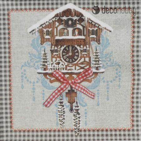 Karacsonyi szalveta - Cuckoo Clock - Decohobby