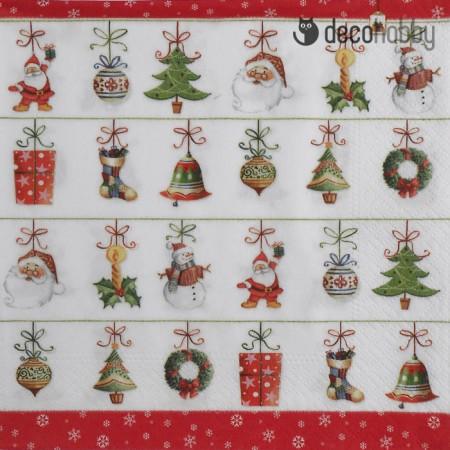 Karacsonyi szalveta - Hanging Ornaments - Decohobby