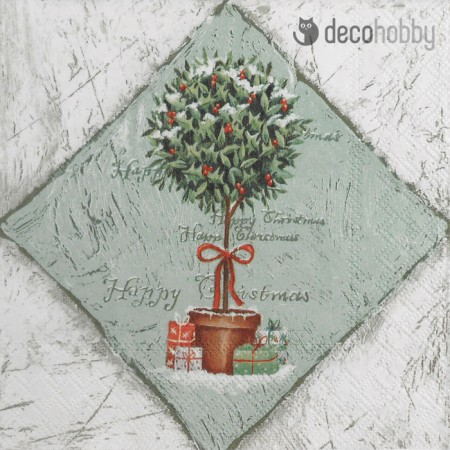 Karacsonyi szalveta - Ilex Tree - Decohobby