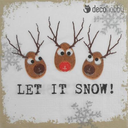 Karacsonyi szalveta - Let it snow - Decohobby