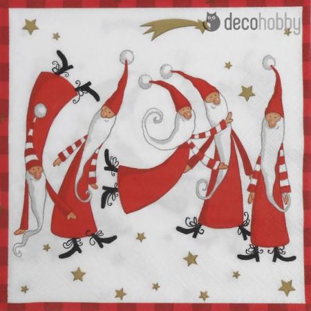Karacsonyi szalveta - Peres Noel - Decohobby
