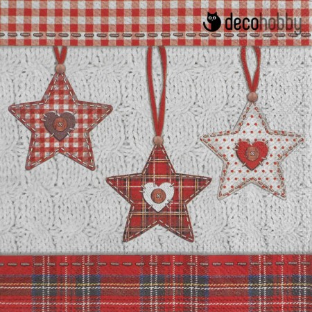Karacsonyi szalveta - Scottish X-Mas - Decohobby