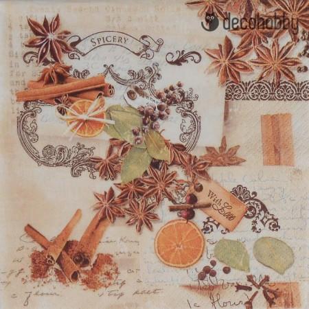 Karacsonyi szalveta - Smells like Winter - Decohobby