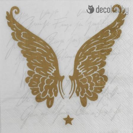 Karacsonyi szalveta - Wings Gold - Decohobby