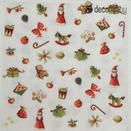 Karacsonyi szalveta - X-Mas Symbols - Decohobby