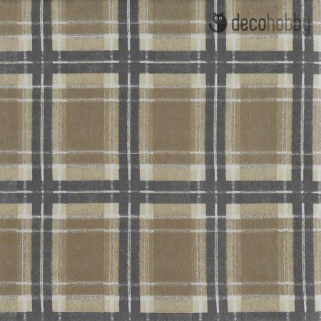 Kockas szalveta - Flannel Check linen - Decohobby