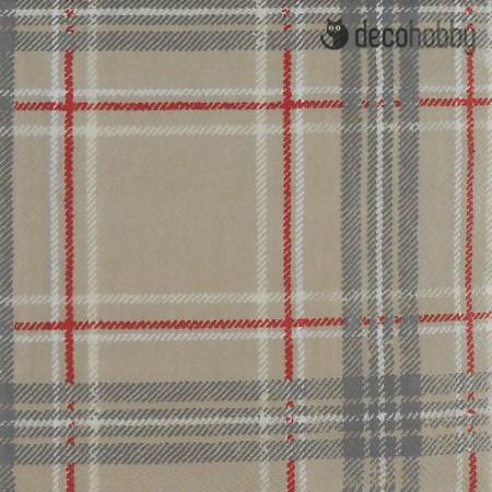 Kockas szalveta - Woven Check linen - Decohobby