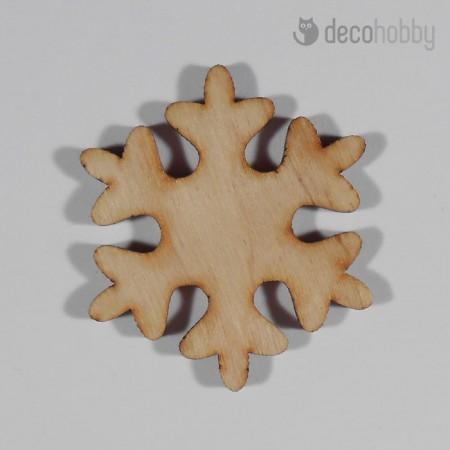 Natur fa hopehely kristaly tabla 5x5cm - Diszites - Decohobby