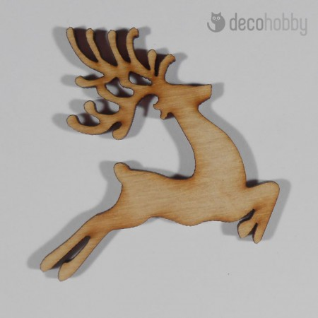 Natur fa ugro szarvas tabla 7x7cm - Diszites - Decohobby