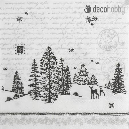 Tajkep szalveta - Forest View - Decohobby