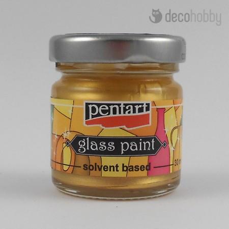 Uvegfestek oldoszeres - metal szinek - arany - Decohobby