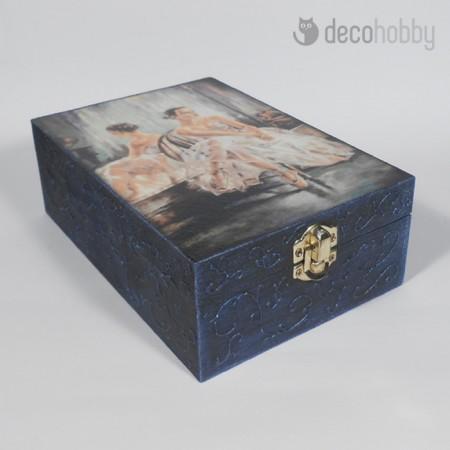 Balerina fekete 6 rekeszes teasdoboz 01 - Decohobby