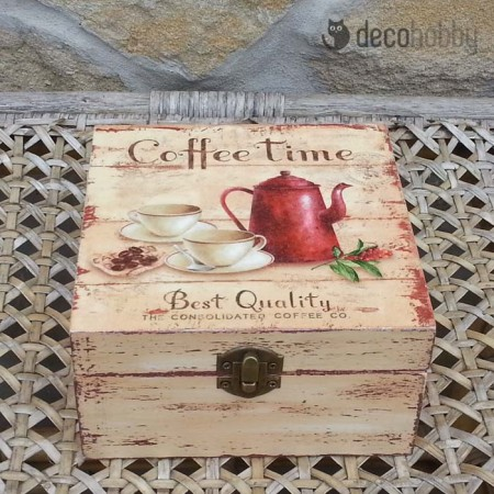 Coffee time 4 rekeszes teasdoboz 01 - Decohobby