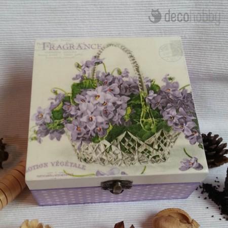 Fragrance 4 rekeszes teasdoboz 01 - Decohobby