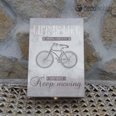 Life is like 6 rekeszes teasdoboz 01 - Decohobby