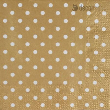Pottyos szalveta - Dots Gold - Decohobby