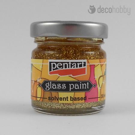 Uvegfestek oldoszeres - csillogo szinek - arany - Decohobby