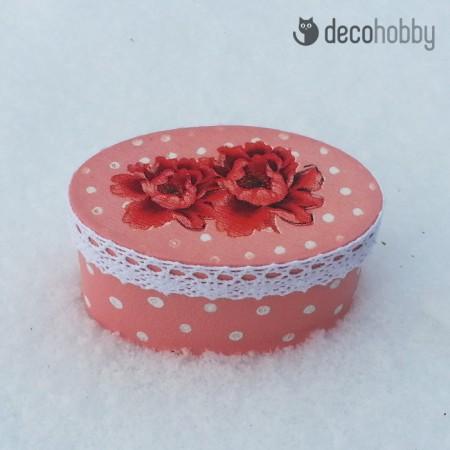 Mini ekszerdoboz - Fleurs-02 - Decohobby