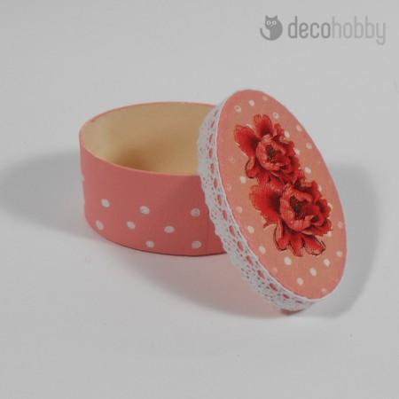Mini ekszerdoboz - Fleurs-03 - Decohobby
