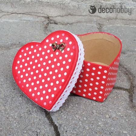 Sziv alaku ajandekdoboz - Red Riding Hood-02 - Decohobby