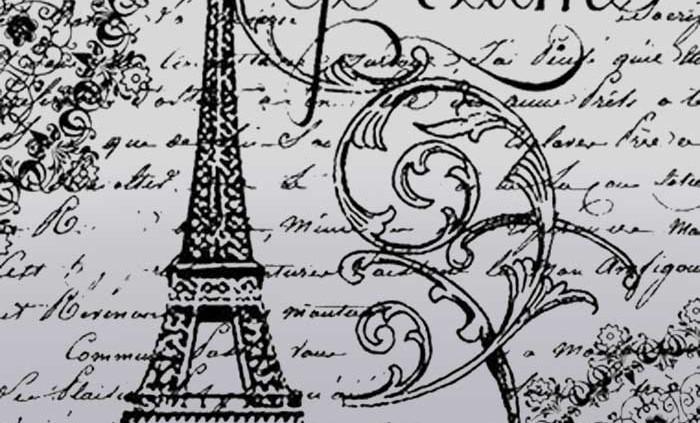 Gumi pecsetelo 10x10cm - Paris Je T'Aime - Stamperia WTKCC45 - Decohobby