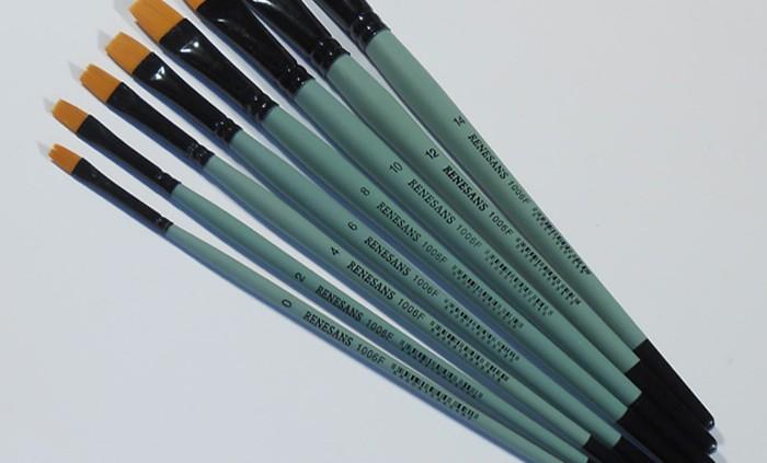 Renesans lapos ecset 0-14 szintetikus - Decohobby