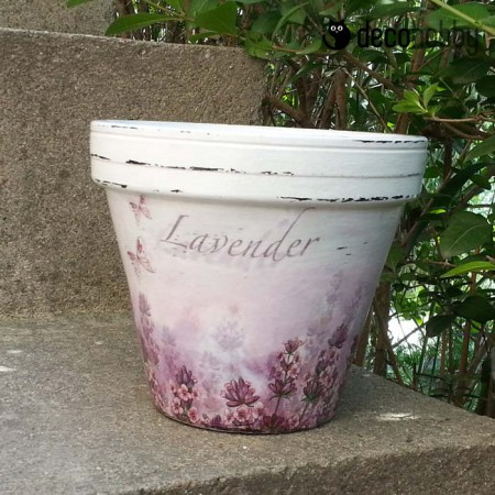 Viragcserep - Lavender 03 - Decohobby