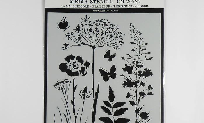 Stamperia MixMedia stencil 20x25 cm - Nature - Decohobby