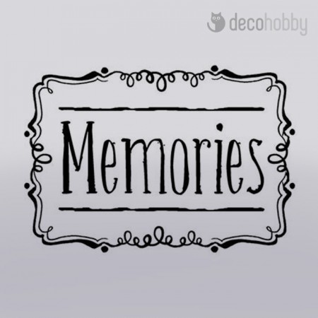 Akril pecsetelo 5x7cm - Memories WTK088 Stamperia - Decohobby
