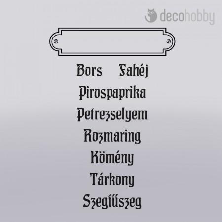Akril pecsetelo 7.5x10cm - Fuszerek 2 - Decohobby