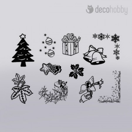 Akril pecsetelo 9,5x14,5cm - Christmas - Decohobby