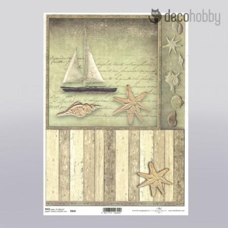 Itd collection rizspapir R940 - Maritime 1 - Decohobby