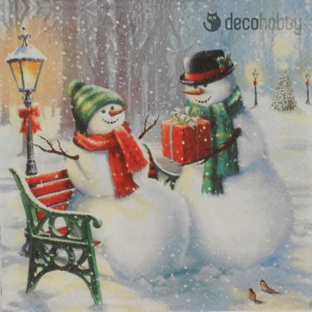 karacsonyi-szalveta-snowman-surprise-decohobby