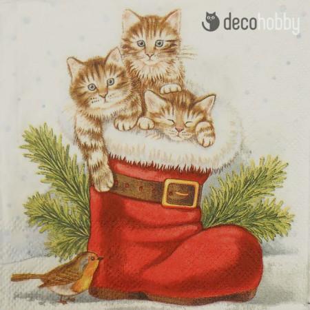 koktelszalveta-25x25cm-christmas-kitties-decohobby