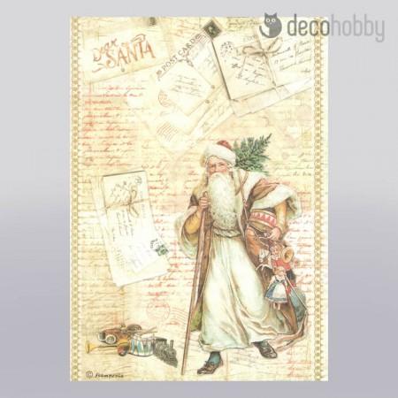 Stamperia rizspapir A4 DFSA4199 Christmas Dear Santa - Decohobby