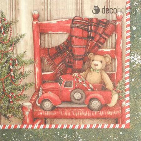 karacsonyi-szalveta-bear-in-a-chair-decohobby