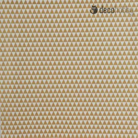 mintas-szalveta-triangles-allover-gold-decohobby
