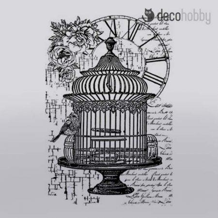 gumi-pecsetelo-7x11cm-birdcage-and-clock-stamperia-wtkcc107-decohobby
