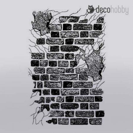 gumi-pecsetelo-7x11cm-brick-wall-stamperia-wtkcc108-decohobby