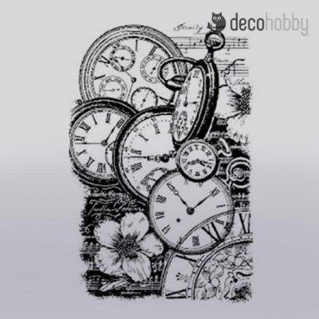 gumi-pecsetelo-7x11cm-clocks-stamperia-wtkcc99-decohobby
