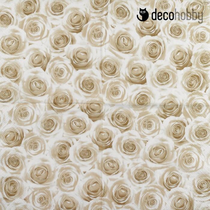 45026b10b2 Esküvői szalvéta - Szépia rózsák   DecoHobby