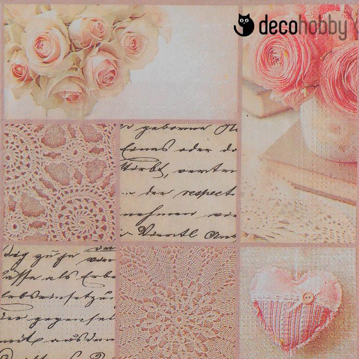 3d79975bd6 ... Esküvői szalvéta – Rózsaszín minták. Akció!