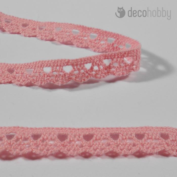 Pamut csipke - Rózsaszín - 1cm  d8fec87bee